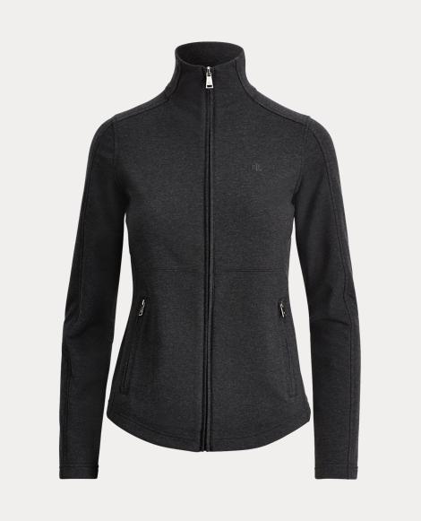 Stretch Cotton Full-Zip Jacket