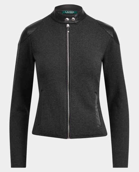 Stretch Cotton Moto Jacket