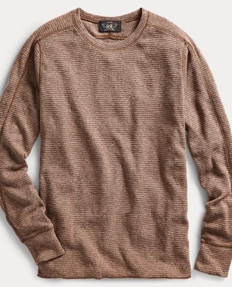 Waffle-Knit Cotton Crewneck