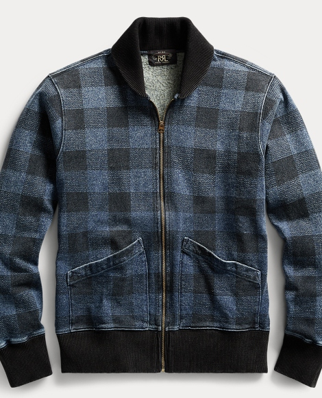 Indigo Plaid Fleece Jacket