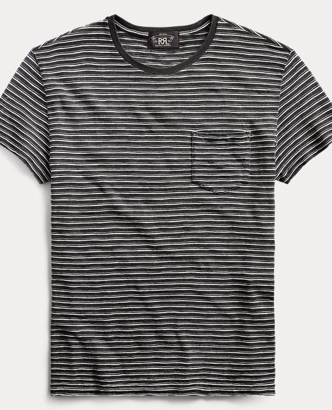 Indigo Cotton-Linen T-Shirt