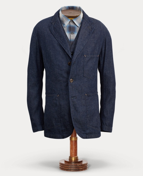 Cotton-Linen-Denim Sport Coat