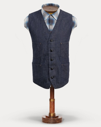 Cotton-Linen-Denim Vest