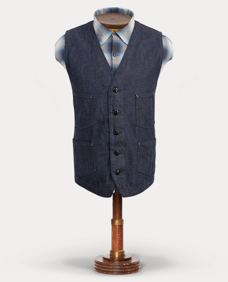 Cotton-Linen-Denim Vest