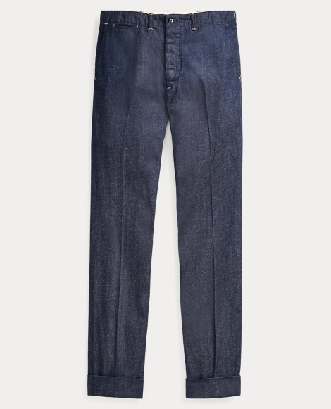 Cotton-Linen Denim Pant