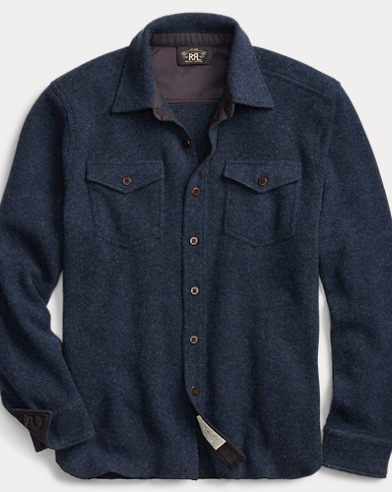 Knit Wool-Cashmere Shirt