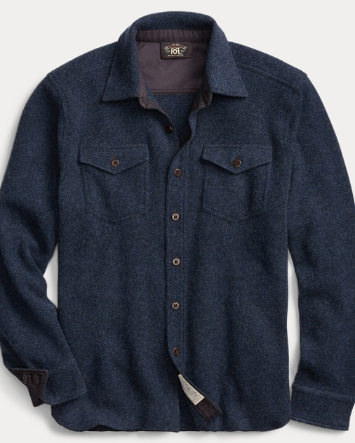 Knit Wool Cashmere Shirt by Ralph Lauren