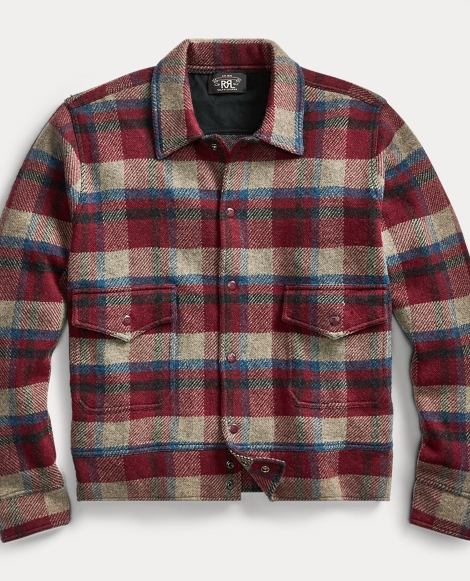 Plaid Wool-Cashmere Jacket