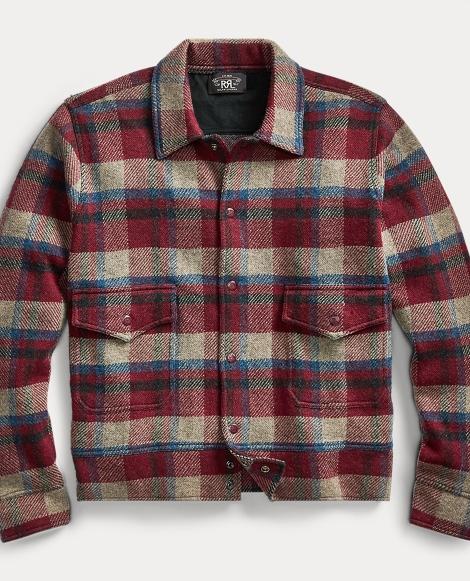 Plaid Wool-Cashmere Jacket