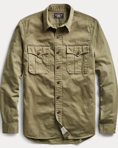 Cotton Herringbone Twill Shirt