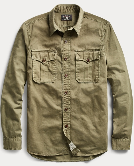 Cotton Herringbone Twill Shirt