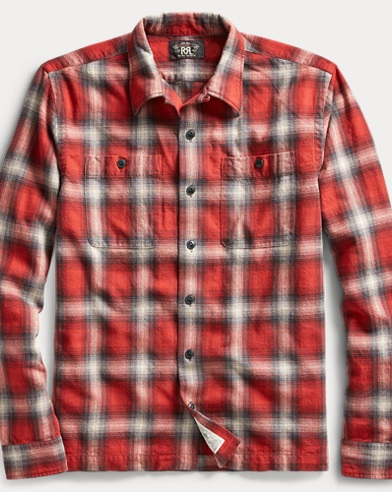 Plaid Cotton Camp Shirt