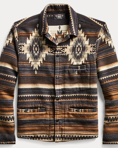 Cotton-Wool-Jacquard Overshirt