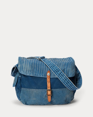 Indigo Patchwork Messenger Bag