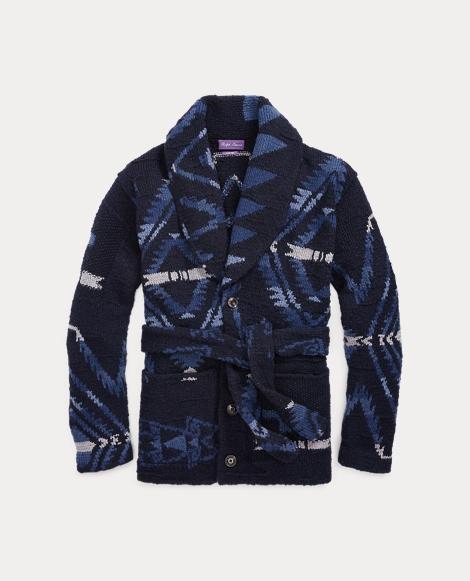 Hand-Knit Wool-Blend Cardigan