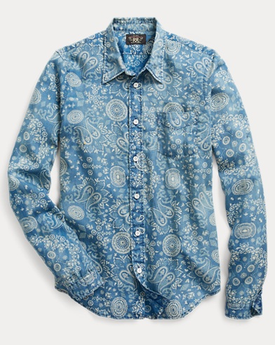Indigo Cotton Sateen Workshirt