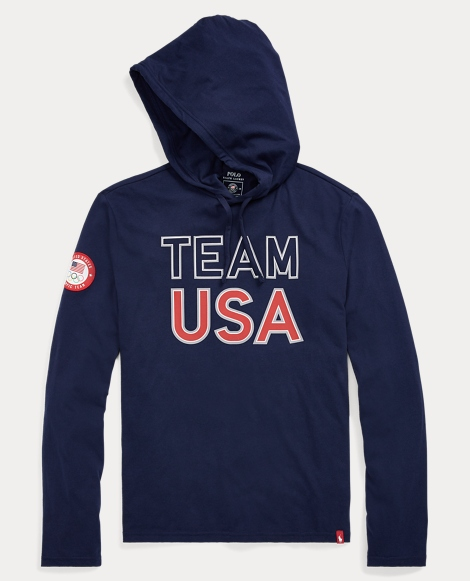 Team USA Cotton Hooded T-Shirt