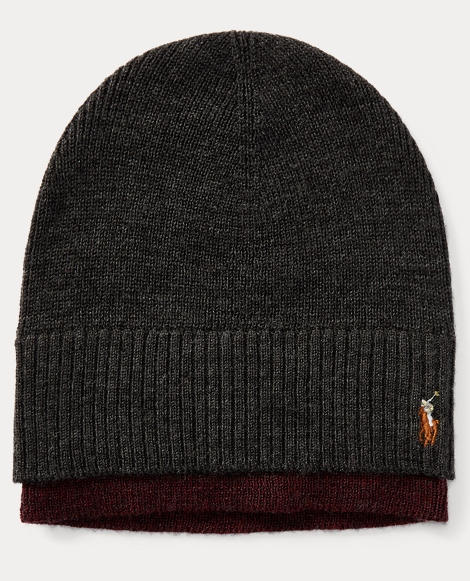 Layered Merino Wool Watch Cap