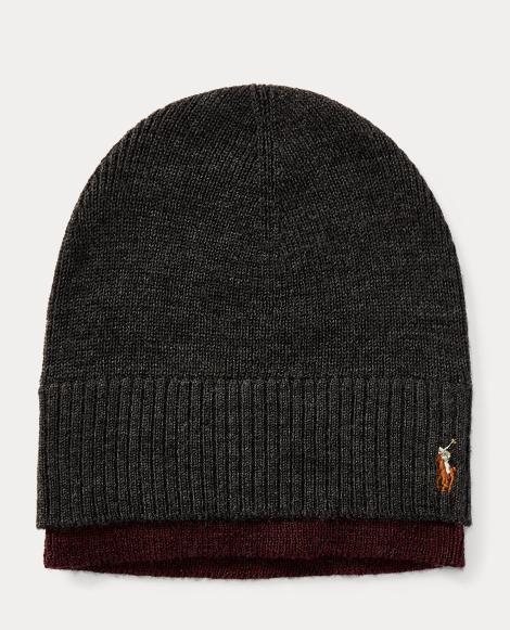 Layered Merino Wool Watch Cap