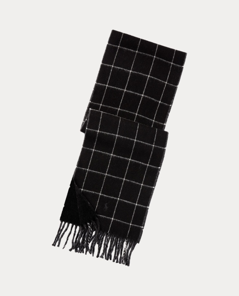 Reversible Windowpane Scarf