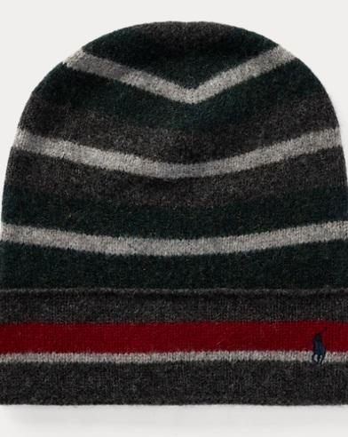 Stripe Felted Wool Hat