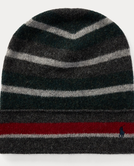 Stripe Felted Wool Hat
