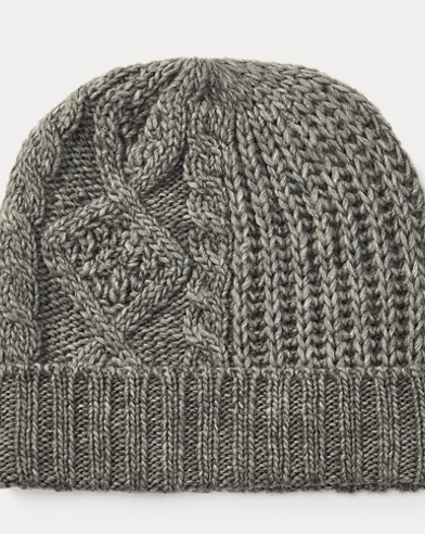 Patchwork Aran-Knit Hat