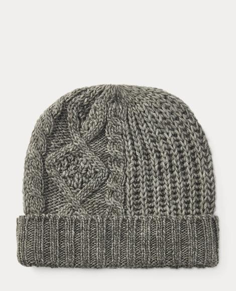 Patchwork Aran-Knit Hat