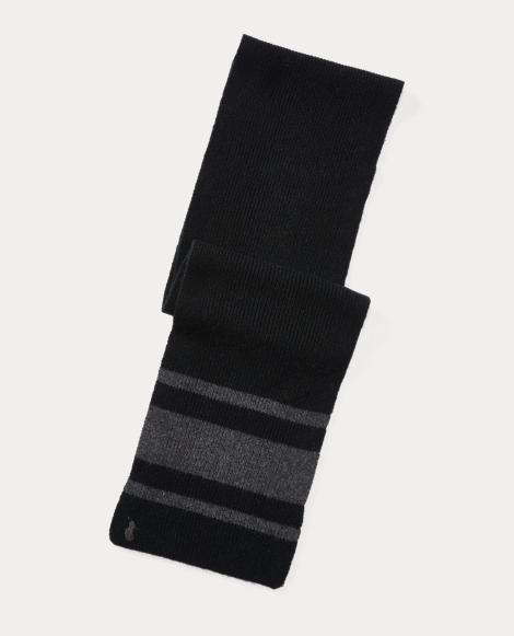 Rugby-Stripe Wool-Blend Scarf