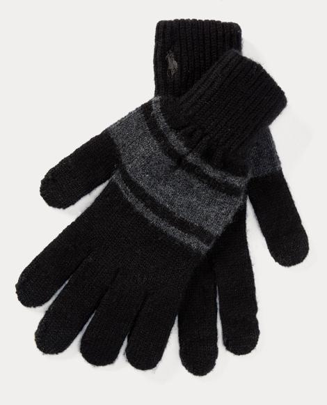 Rugby-Stripe Wool Tech Gloves