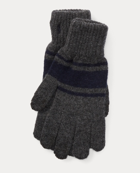 Rugby-Stripe Wool Tech Gloves