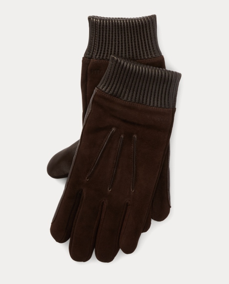 Nappa Leather-Suede Gloves