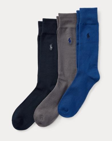 Flat-Knit Trouser Sock 3-Pack