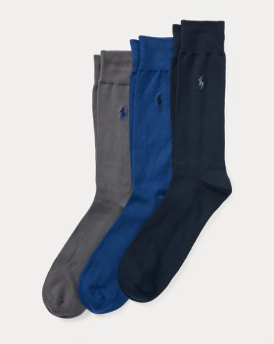 Flat-Knit Trouser Sock 3-Pack