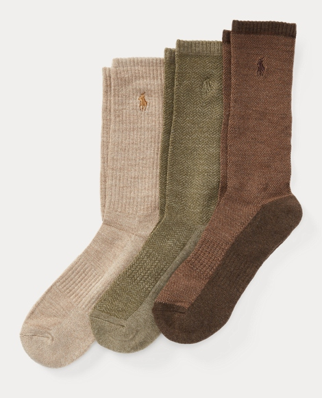 Birdseye Crew Sock 3-Pack