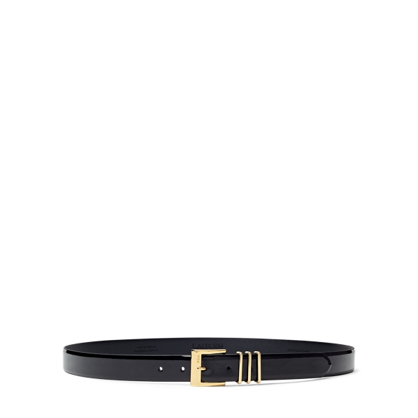 Triple Keeper Patent Belt by Ralph Lauren