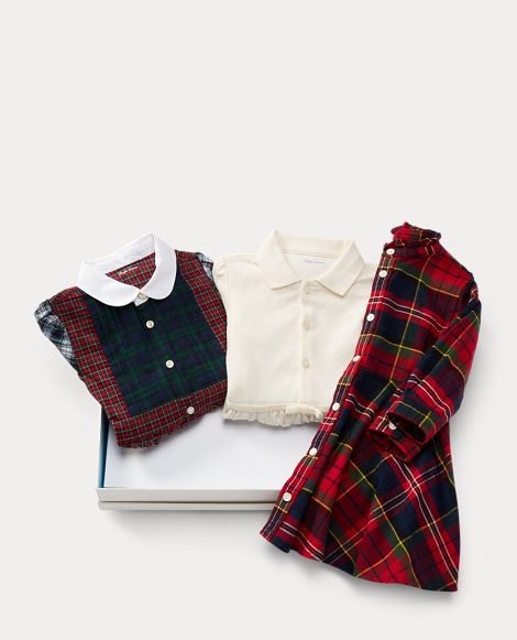 Plaid Dress 3-Piece Gift Set