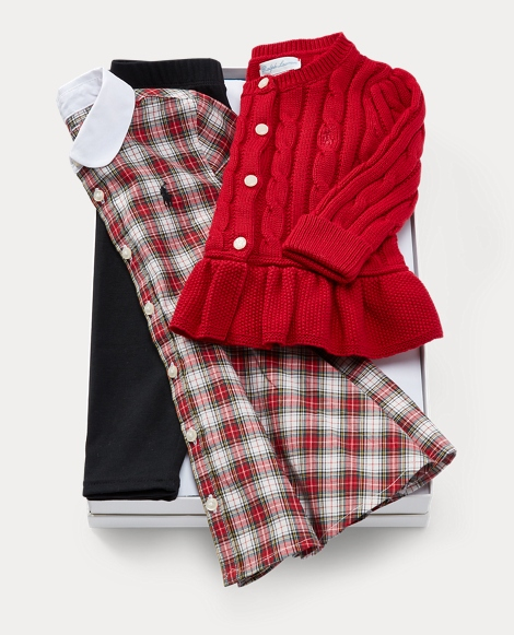 Dress, Cardigan & Legging Set