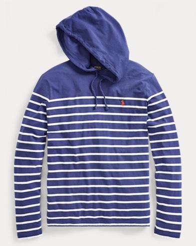 Weathered Cotton Jersey Hoodie