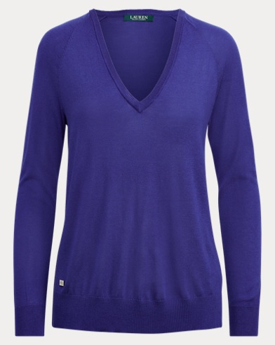 Modal-Silk V-Neck Sweater