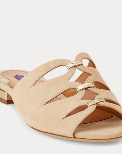 Jeanette Suede Slide Sandal