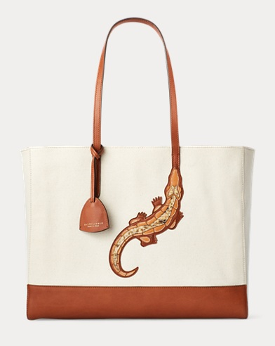 Crocodile Patch Modern Tote