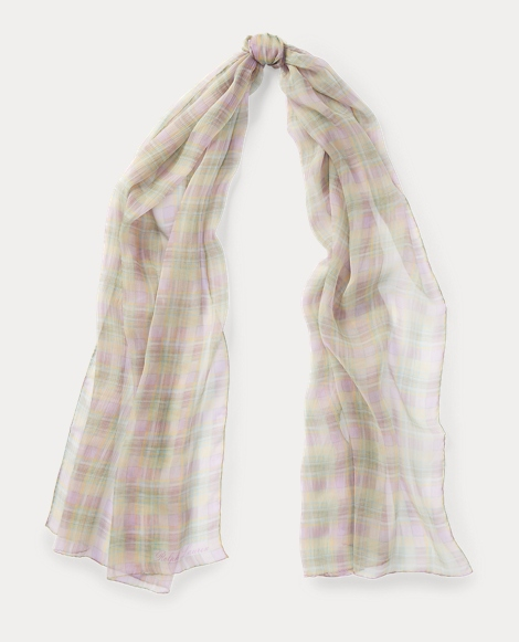 Silk Madras Scarf
