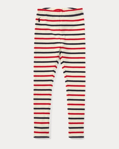 Striped Ribbed Cotton Legging
