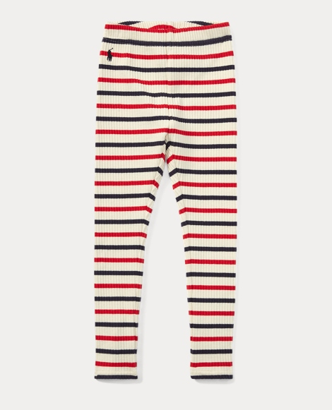 Striped Ribbed Cotton Legging