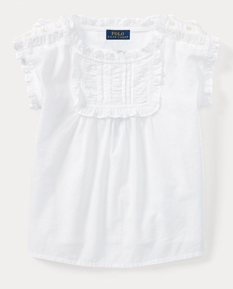 Pintucked Cotton Batiste Top