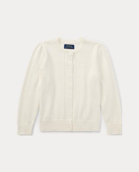 Pointelle Cotton Cardigan