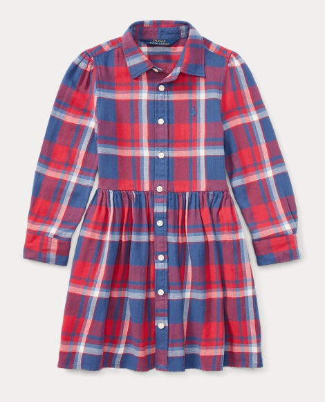 Plaid Flannel Shirtdress