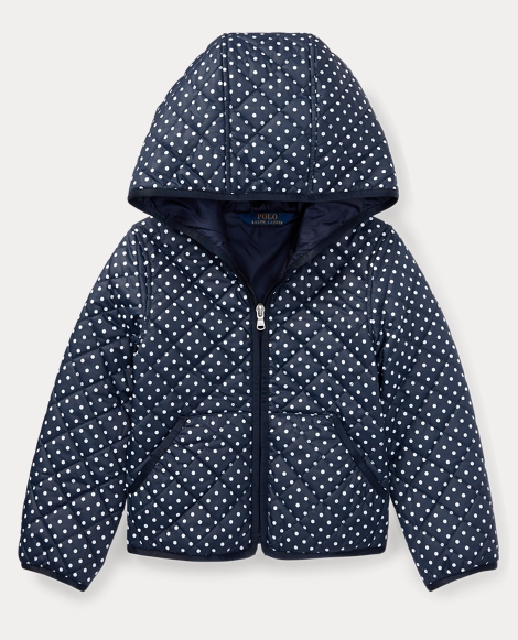 Polka-Dot Quilted Jacket