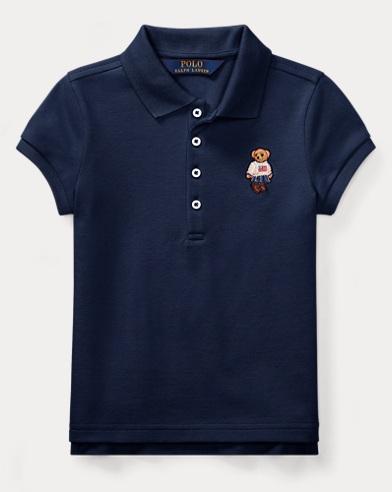 Polo Bear Mesh Polo Shirt